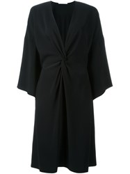 Rosetta Getty Kimono Twist Dress Black