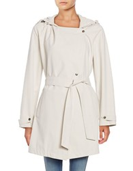 Bernardo Hooded Drawstring Trench Beige