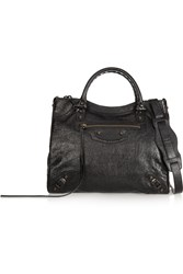 Balenciaga Velo Textured Leather Shoulder Bag