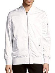 Members Only Solid Baseball Collar Jacket White