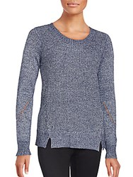 T Tahari Shay Knit Sweater Frost White