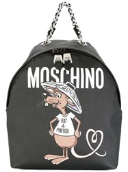 Moschino Rat A Porter Backpack Black