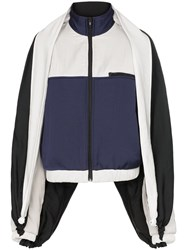 Y Project Extra Sleeve Zip Up Track Jacket Blue