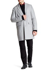 Wesc Rock Relaxed Fit Wool Blend Coat Gray