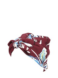 Superduper Toknot Floral Printed Crepe Turban