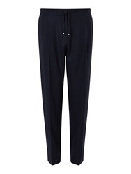 Jigsaw Relaxed Flannel Trouser Navy