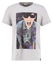 Lee Photo Tee Regular Fit Print Tshirt Grey Melange