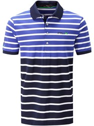 Rlx Ralph Lauren Performance Block Stripe Polo Blue