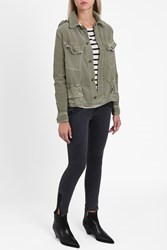 Current Elliott Women S The Slanted Pocket Jacket Boutique1 Green