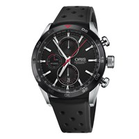 Oris 774 7661 4424 07 4 22 25Fc Men's Artix Gt Chronograph Date Automatic Rubber Strap Watch Black