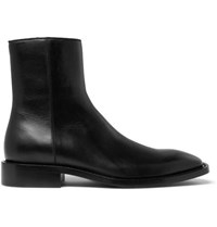 Balenciaga Polished Leather Boots Black