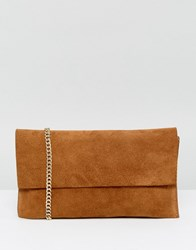 French Connection Suede Chain Bag Adobe Tan Brown