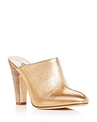 Sarah Jessica Parker Sjp By Women's Rigby Leather High Heel Mules Rose Gold