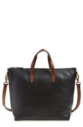 Madewell Leather Zip Transport Bag Black True Black