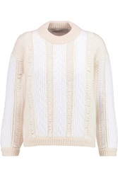 Pringle Jacquard Knit Sweater White