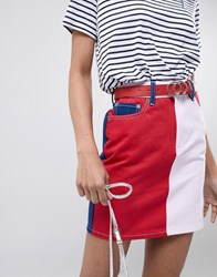 New Look Circle Detail Belt Red