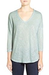 Women's Bobeau Metallic Flecked V Neck Pullover
