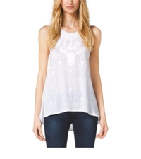 Michael Kors Embroidered Jersey Tank White
