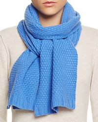 Bloomingdale's C By Waffle Knit Cashmere Scarf River