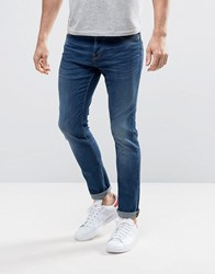 Only And Sons Slim Fit Stretch Jeans In Medium Blue Wash Medium Blue