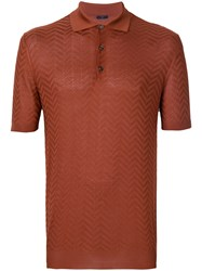 Larusmiani Embroidered Polo Top Brown