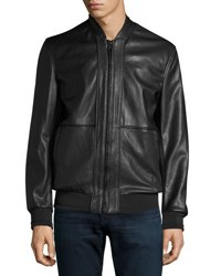 Marc New York Edison Faux Leather Bomber Jacket Black