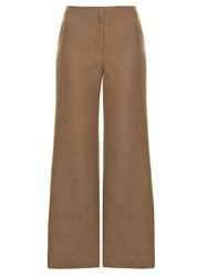 The Row Binona Wide Leg Trousers Tan