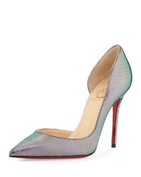 Iriza Iridescent Red Sole Pump Digitale Silver Christian Louboutin