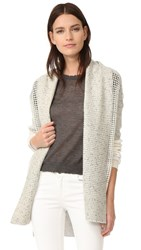 M.Patmos Anais Mesh Cashmere Cardigan Grey Heather Combo