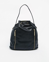 French Connection Athena Duffle Backpack With Zip Detail Black