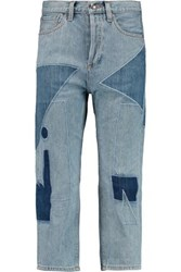 Marc By Marc Jacobs Big Cropped Patchwork Jeans Light Denim