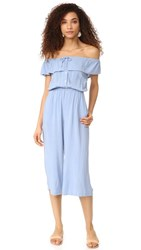 Capulet Mara Off Shoulder Jumpsuit Light Blue