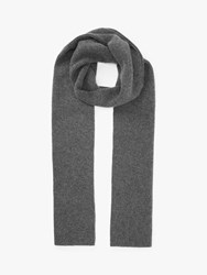 John Lewis And Partners Ribbed Cashmere Scarf Grey