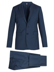 Burberry Soho Wool And Mohair Blend Suit Blue