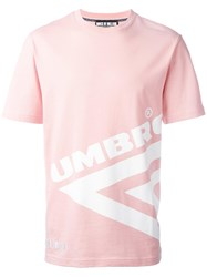 House Of Holland Umbro Half Diamond T Shirt Pink Purple