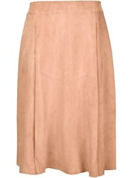 Adam By Adam Lippes Adam Lippes Suede Midi Skirt Nude And Neutrals