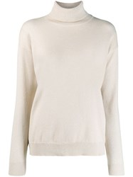 Brunello Cucinelli Turtleneck Sweater Neutrals