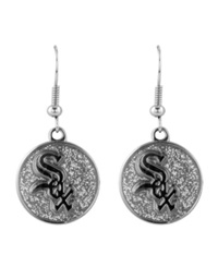 Aminco Chicago White Sox Glitter Dangle Earrings Team Color