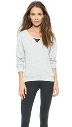 Blue Life Fit Mesh Sweatshirt Pepper