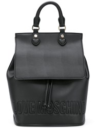 Love Moschino Drawstring Backpack Women Leather Polyurethane One Size Black