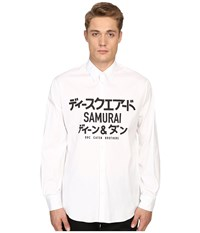 Dsquared Samurai Relax Dan Shirt White Men's Clothing