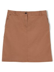 Dash Peached Chino Skirt Brown