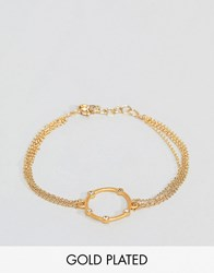 Dogeared Gold Plated Infinity And One Halo Bracelet