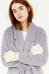 Urban Outfitters Shimmery Knit Convertible Glove Ivory