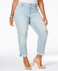 American Rag Plus Size Ripped Zuly Wash Cropped Jeans Only At Macy's