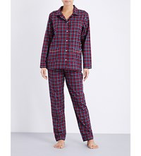 Tommy Hilfiger Holiday Checked Flannel Pyjama Set Dark Navy
