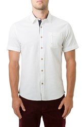 7 Diamonds Men's Mystic Traveler Woven Shirt White