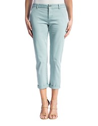 Liverpool Jeans Billy Rolled Cuff Trousers Slate Blue