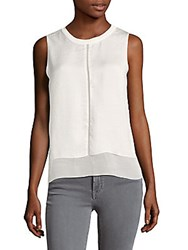 Saks Fifth Avenue Tiered Woven Blouse White