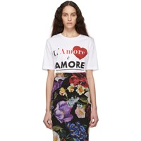 Dolce And Gabbana White 'L'amore Ė Amore' T Shirt